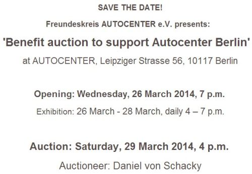 Benefit auction to support AUTOCENTER