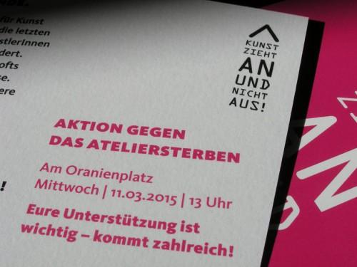 Aktion gegen das Ateliersterben in Berlin