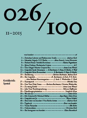 Die sechsundzwanzigste Ausgabe zum Runterladen (©2015 Büro für Film und Gestaltung)