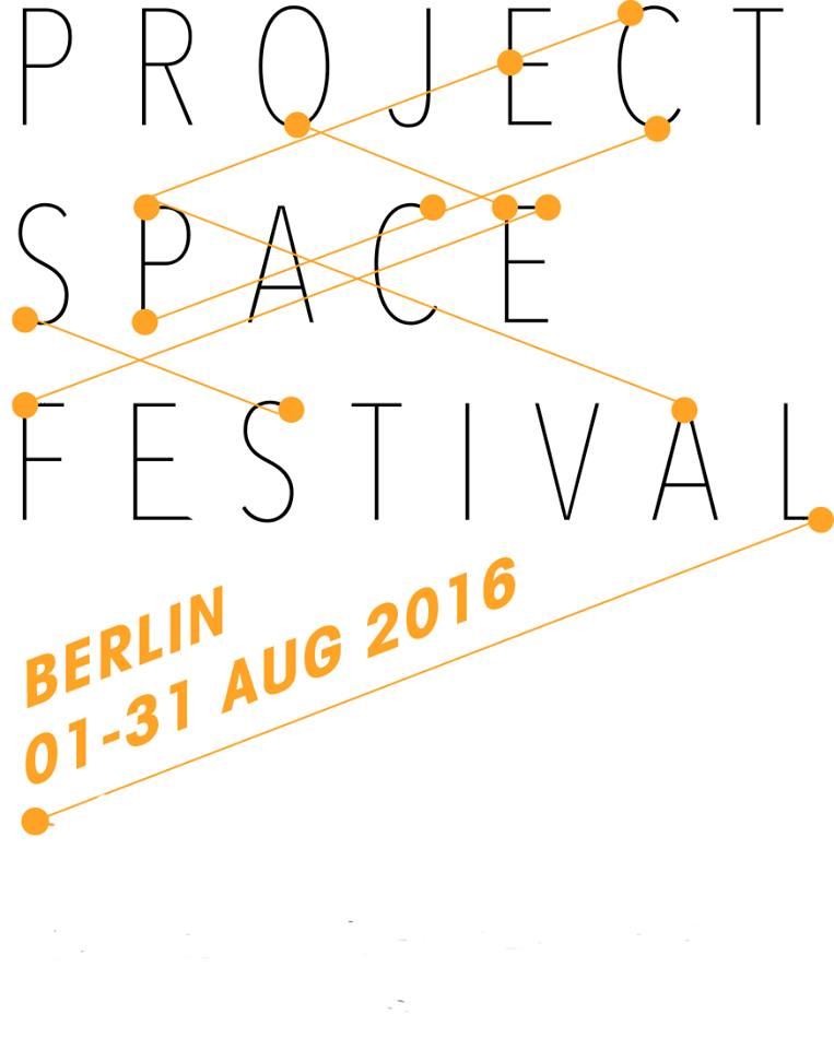 Now online - All events of this years' Project Space Festival. 31 days with 31 spaces. Please check our calendar for regularly updated informations on our website by clicking the logo!